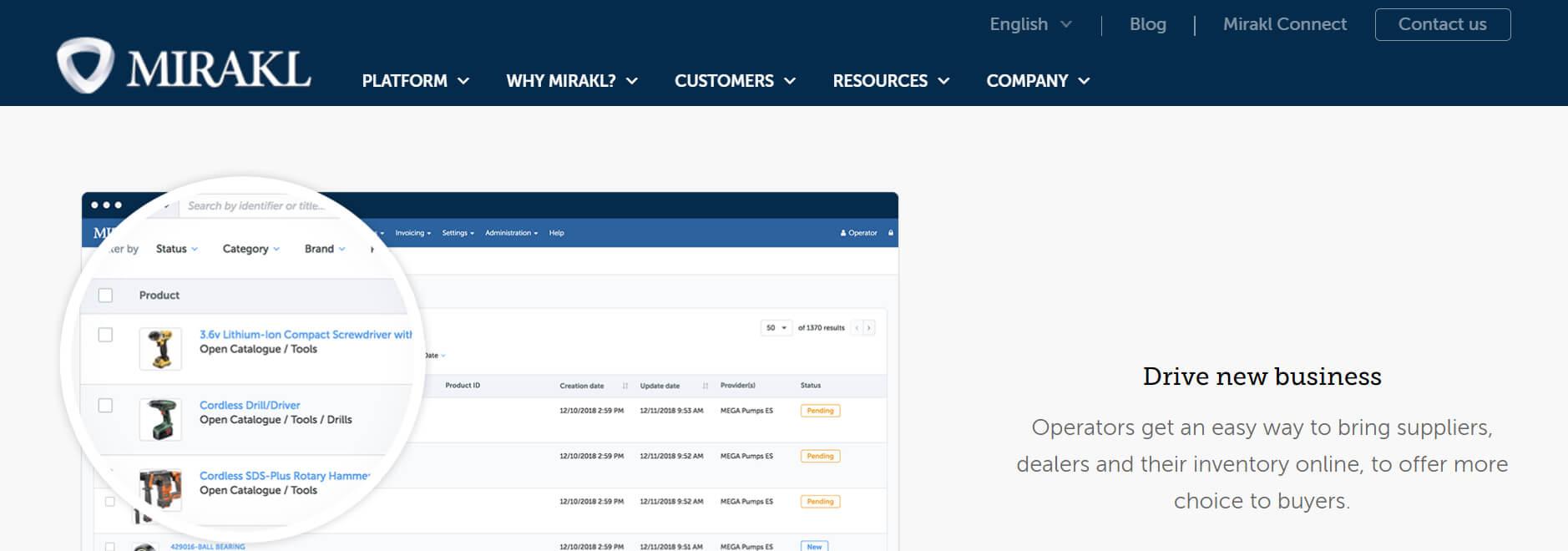 Mirakl: B2B and B2C marketplace solutions