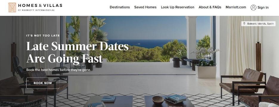 Marriott's home-rental business: Homes & Villas
