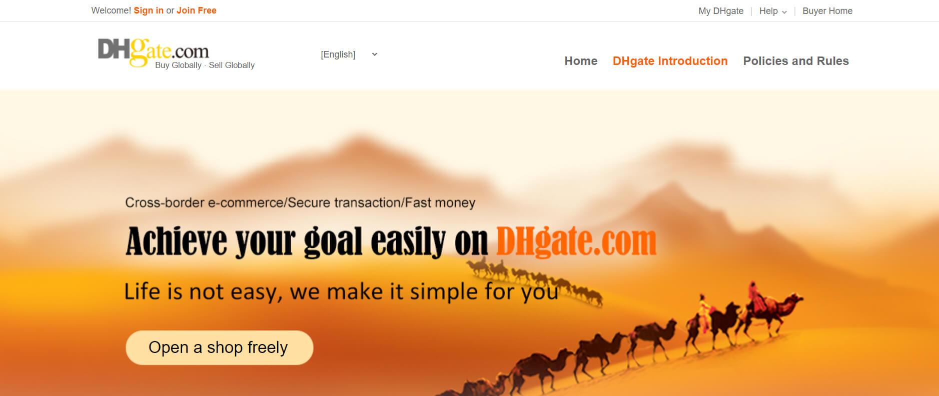 DHgate marketplace