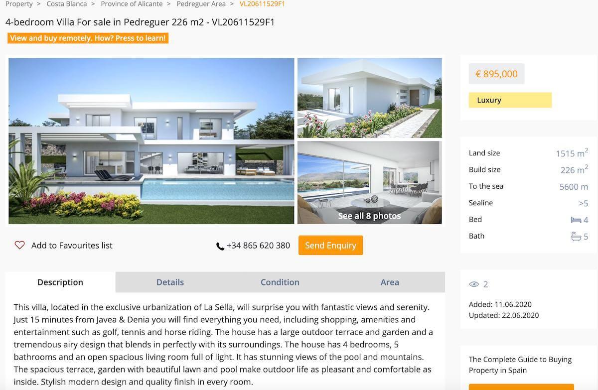 VirtoProperty luxury villa in Spain