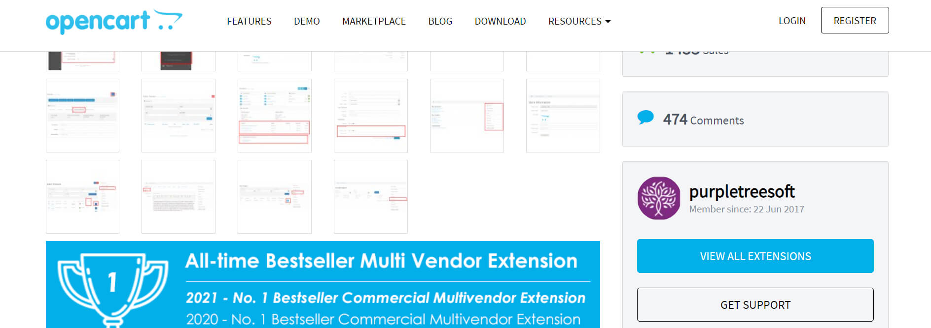 Complete Multi Vendor Marketplace for Opencart From Purpletree