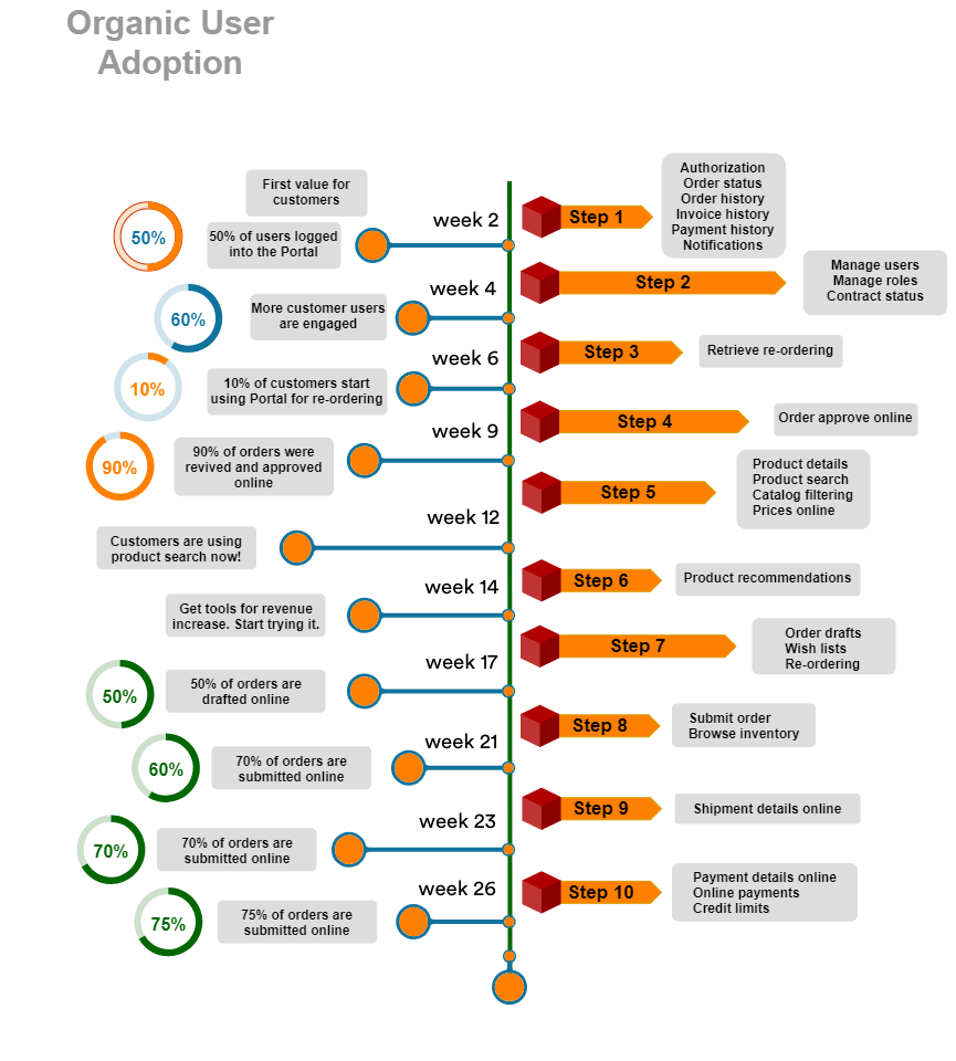 step-by-step guide for user adoption in B2B ecommerce