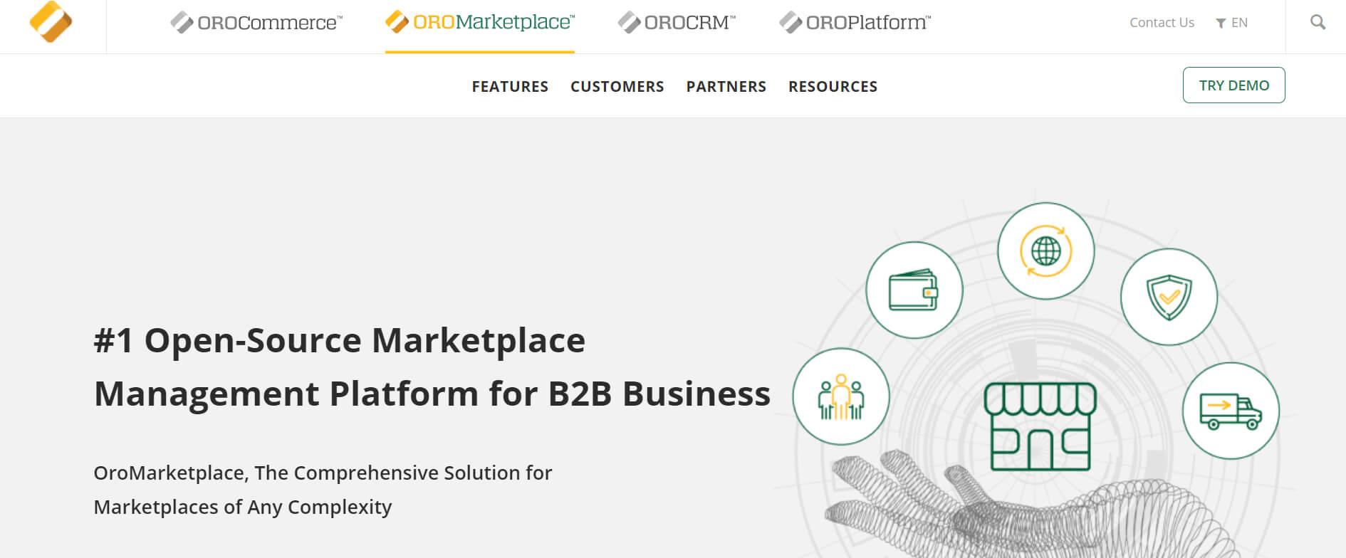 OroMarketplace  marketplace platform
