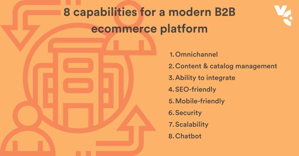 8 capability of a modern b2b ecommerce platfrom