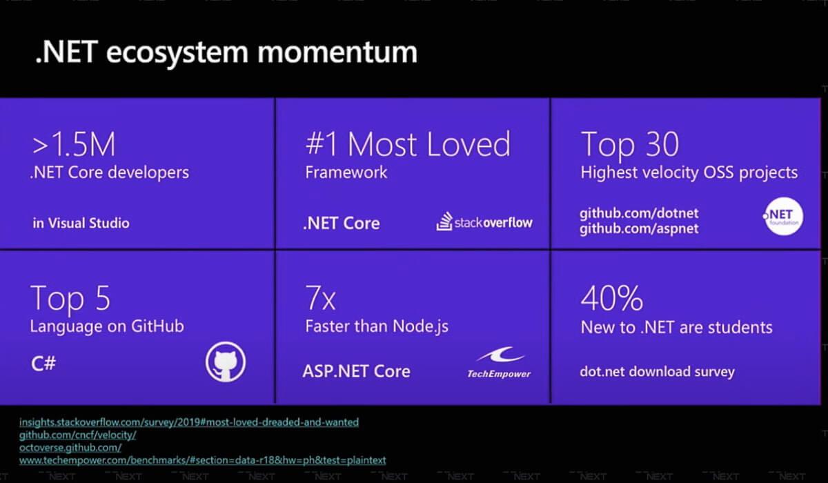 .NET ecosystem momentum