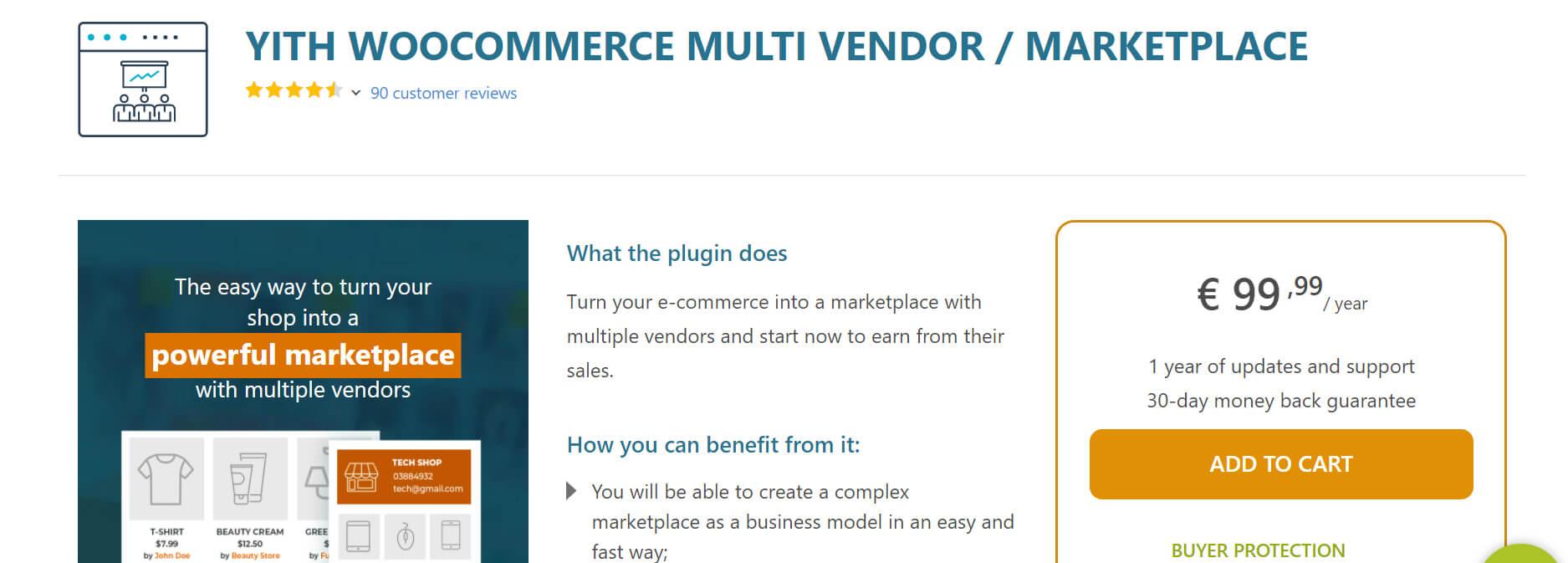 YITH WooCommerce Multi Vendor Marketplace